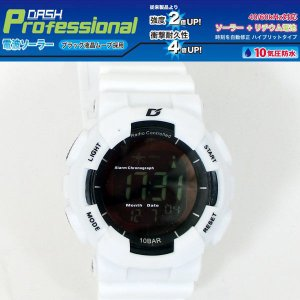 ALIAS 電波ソーラー デジタル 腕時計 DASH 反転液晶 10気圧防水 ウレタンベルト  ADWW15039RCSOL-5ホワイト|saponintaiga