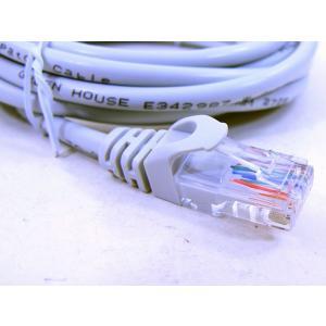 グリーンハウス/GH-CBE5E-3M カテゴリー5e LANケーブル 3m ストレート結線|saponintaiga