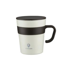 真空二重マグカップ 取手付き 250ml ココカフェ CC-16 ホワイト 4972940312429|saponintaiga