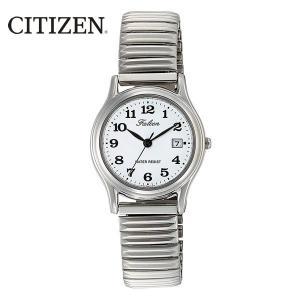 シチズン 日本製ムーブメント カレンダー付 蛇腹ベルト レディース腕時計 D015-204|saponintaiga
