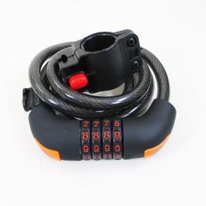 自転車 鍵 ワイヤーロック ダイヤルロック  (ブラケット付き)ドッペルギャンガー ダイヤルコンボワイヤーロック1200 DKL516-BK/送料無料|saponintaiga