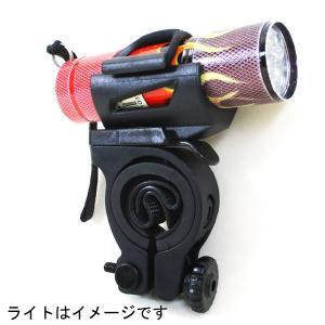 ライトブラケット 自転車取り付用 懐中電灯 ヘッドライトブラケット DLST01-BK ドッペルギャンガー/送料無料|saponintaiga