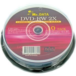 HIDISC MR.DATA アナログ録画・データ用  DVD-RW 4.7GB 2倍速 10枚  ...