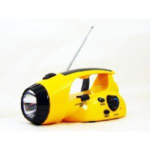 手回し充電で、電池要らず/ ダイナモ ハンディ ラジオライト 充電式LEDライト|saponintaiga
