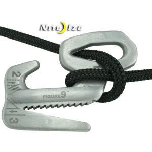 ナイトアイズ 自在金具 ロープ締め具 紐縛り 固定器具 フィギュア9 L F9L-02-09 ロープタイトナー/送料無料メール便 ポイント消化|saponintaiga
