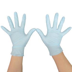 使い捨て手袋 ニトリル手袋  粉なしタイプ(ブルー)x1箱300枚入 Lサイズ OS-GLNT-3LBL|saponintaiga
