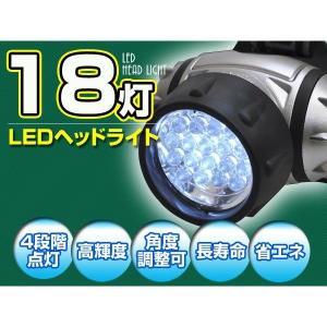 高輝度白色LED 18灯LED ヘッドライト 送料無料 数量限定特価|saponintaiga