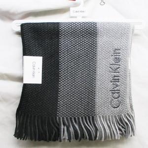 カルバンクライン マフラー HKC83406 ブラック(001)/送料無料メール便|saponintaiga