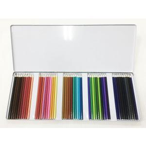 色鉛筆50色セット 缶ケース入りx6個セット/卸/|saponintaiga