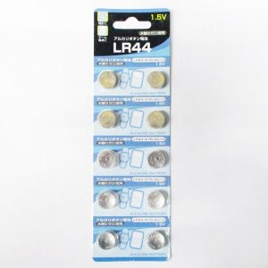 ボタン電池 LR44 アルカリボタン電池 10個 2021年12月期限