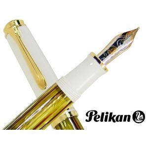 ペリカン 万年筆 スーベレーン M400 ホワイトトータス 日本正規品 ペン先選択可/送料無料|saponintaiga