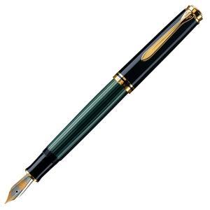 ペリカン 万年筆 スーベレーン M800 緑縞グリーン 日本正規品 ペン先選択可|saponintaiga