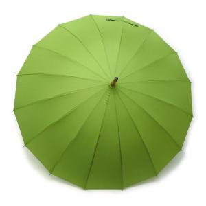 和傘 16本骨 ポンジージャンプ傘  グリーン 直径94cmのワイドサイズx1本/法人配送のみ/個人宅配送不可|saponintaiga