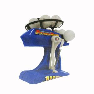 バッティングマシーン ピッチングマシーン 電動バッティングマシン ピッチングマシン 専用ボール&バット付属 カラーブルーx2台セット/卸/送料無料|saponintaiga