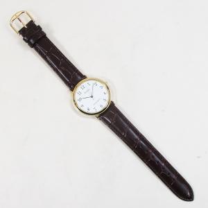 シチズン ファルコン 腕時計 日本製ムーブメント 革ベルト ブラウン/茶 Q996-104 メンズ 紳士|saponintaiga