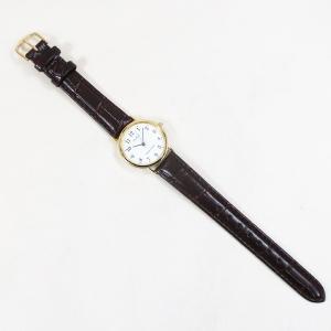 シチズン ファルコン 腕時計 日本製ムーブメント 革ベルト ホワイト/ブラウン Q997-104 レディース 婦人|saponintaiga