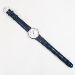 シチズン ファルコン 腕時計 日本製ムーブメント 革ベルト ホワイト/ネイビー Q997-324 レディース 婦人|saponintaiga