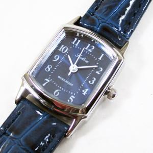 シチズン ファルコン 腕時計 日本製ムーブメント 革ベルト ネイビー/紺 QA69-305 レディース 婦人/送料無料|saponintaiga