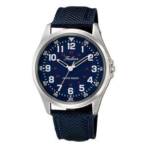 シチズン ファルコン 腕時計 日本製ムーブメント ナイロン/革ベルト ネイビー/紺 QB38-315 メンズ 紳士|saponintaiga