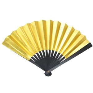 黒鉄扇 八寸 金色 伝統製法 日本製 鍛造/送料無料|saponintaiga