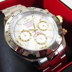テクノス 腕時計 クオーツ 10気圧防水 クロノグラフ T4683L白文字盤 メンズ 限定プレミアモデル/送料無料|saponintaiga