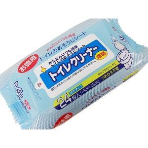 日本製 除菌トイレクリーナー 厚手シート お掃除シート 24枚入x1個/送料無料