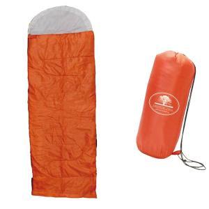 シュラフ(寝袋)万能1人用 快適寝袋 オレンジ MCO-58OR キャンプや災害時に!x1個 4498|saponintaiga
