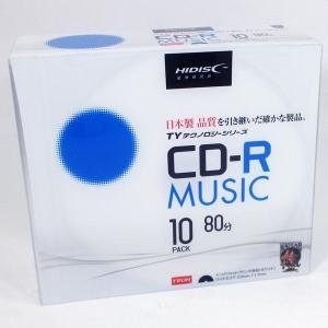 CD-R 音楽用 80分 TYシリーズ太陽誘電指定品質 5mmスリムケース 10枚 HIDISC TYCR80YMP10SC/0083 saponintaiga