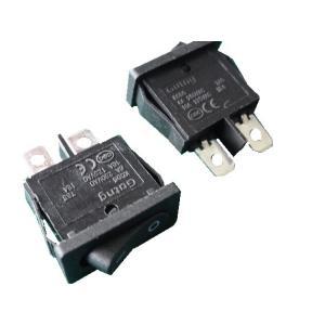 <ロッカースイッチ通販・販売>ロッカースイッチ1回路1接点 KCD117-2P-B 穴あけサイズ18.8mm×6.6mm> 2個入<1sw-410>|sapporo-boueki