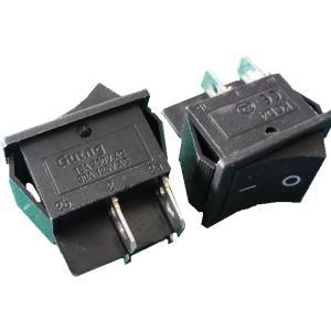 <ロッカースイッチ通販・販売>ロッカースイッチ<2回路1接点黒 KC108-4P-A 穴あけ25.0×21.0mm> ON-OFF 2個入<1sw-415>|sapporo-boueki