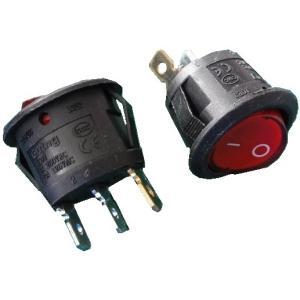 <ロッカースイッチ通販・販売>ロッカースイッチ<1回路1接点 100V交流パイロットランプ付赤 直径φ19.3mm>2個入<1sw-420>|sapporo-boueki