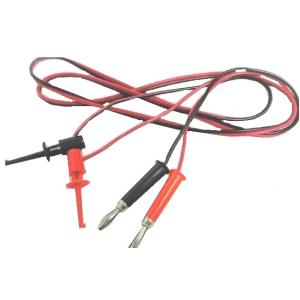 <テスターICクリップ通販・販売><3mm穴用テスターICクリップ 簡易タイプ><赤黒各1本><1zi-164>|sapporo-boueki