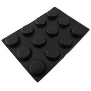 ゴム足・ケース用ゴム足 シール接着 黒・丸 接着面直径φ8mm 高さ3mm まるみなし 12個入<2zi-001>|sapporo-boueki