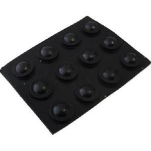ゴム足・ケース用ゴム足<黒・丸 直径φ7mm 高さ3mm まるみあり>1袋12個<2zi-044>|sapporo-boueki