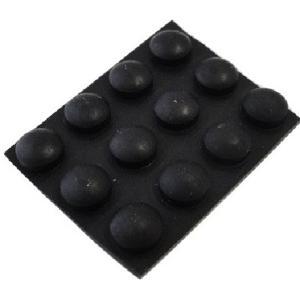ゴム足・ケース用ゴム足<黒・丸 直径φ8mm 高さ4mm>12個入<2zi-046>ゴム足・ケース用ゴム足|sapporo-boueki