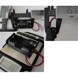 <単3 電池ボックス 1段×2=2本>工作用電池ボックス・電池ケース コード付電池ボックス 2個入<bat-001>|sapporo-boueki|02