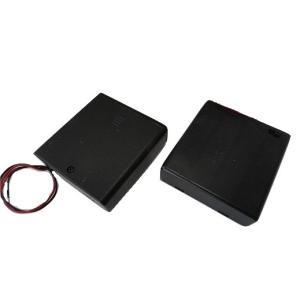 <単3 スイッチ付ネジ〆ケース 電池ボックス 1段×4=4本>2個入<bat-005>|sapporo-boueki