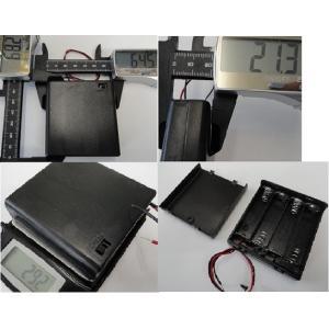 <単3 スイッチ付ネジ〆ケース 電池ボックス 1段×4=4本>2個入<bat-005>|sapporo-boueki|02