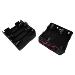 <電池ボックス通販・販売><単3 電池ボックス 2段×4=8本>2個入<bat-008>|sapporo-boueki