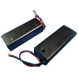 <単3電池ボックス・電池ケース販売・通販><単3 1本 スイッチ・コード付電池ボックス>2個入<bat-026>|sapporo-boueki