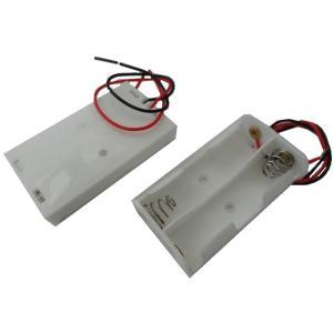 コード付 単三電池ボックス 白 1段×2=直列2本 2個入<bat-046> sapporo-boueki