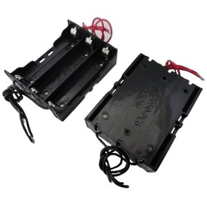 コード付 18650 電池ボックス(長さ65mm以内) 1列×3=3本 2個入<bat-064> sapporo-boueki