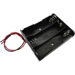 コード付 バネ 18650電池ボックス 1段×3=直列3本 2個入<bat-076> sapporo-boueki