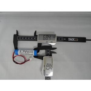 <電子工作用リチウムイオン充電池><工作用リチウムイオン充電池 3.7V 約3000mA 66×38×φ20mm>1個入<bat-102>|sapporo-boueki|02