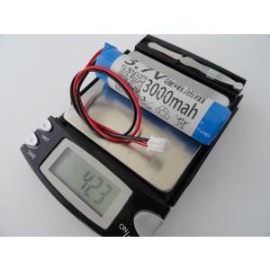 <電子工作用リチウムイオン充電池><工作用リチウムイオン充電池 3.7V 約3000mA 66×38×φ20mm>1個入<bat-102>|sapporo-boueki|03
