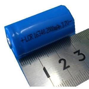 <リチウムイオン充電池16340><16340二次電池 3.7V 容量約2000mA><bat-231> sapporo-boueki