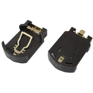 <電池ボックス通販・販売><ボタン電池CR2032用 基板ホルダーB 1個用>工作用電池ボックス・電池ケース CR2032 マウント用 金メッキ加工<bat-352>|sapporo-boueki