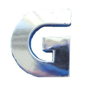 クルマ・バイク用アルファベットエンブレム<G>英文字・数字シール付<car-206>|sapporo-boueki