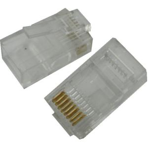 <LANケーブルコネクタ><LANケーブルコネクタ RJ45 8極8芯>10個入<con-532>|sapporo-boueki