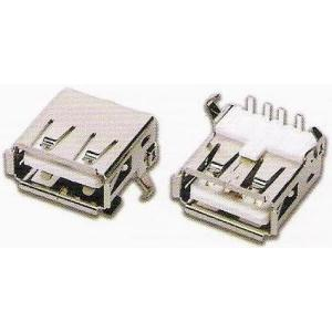 <USBコネクタAタイプ><USBコネクタAタイプ(黒ベロ) 基板側 1口タイプ>2個<con-569>|sapporo-boueki